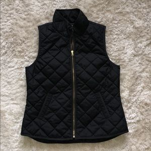 Old Navy Black Quilted Lightweight Zip Vest